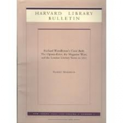 Harvard Library bulletin