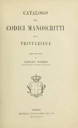 Catalogo dei codici manoscritti della Trivulziana