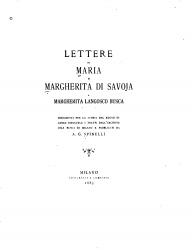 Lettere di Maria e Margherita di Savoja a Margherita Langosco Busca