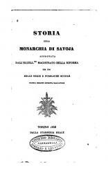 Storia della monarchia di Savoja