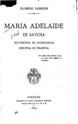 Maria Adelaide di Savoia, duchessa di Borgogna, delfina di Francia