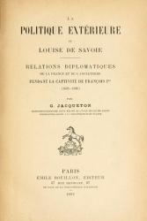 La politique extérieure de Louise de Savoie