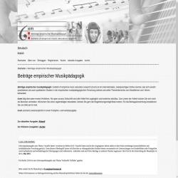 Beiträge empirischer Musikpädagogik