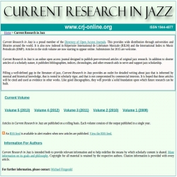Current Research in Jazz