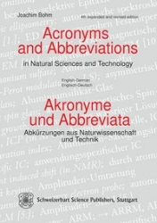 Acronyms and abbreviations in natural science and technology