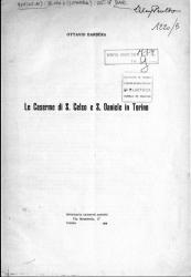 Le caserme di S. Celso e S. Daniele in Torino