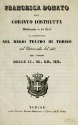 Francesca Donato ossia Corinto distrutta