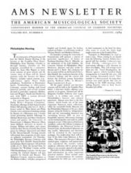 AMS newsletter