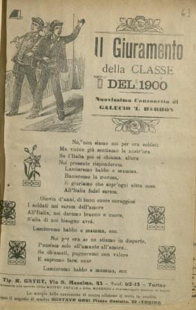 Il giuramento della classe del 1900