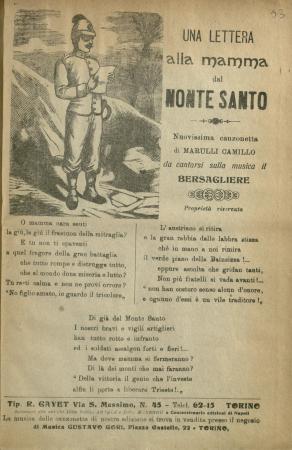 Una lettera alla mamma dal Monte Santo