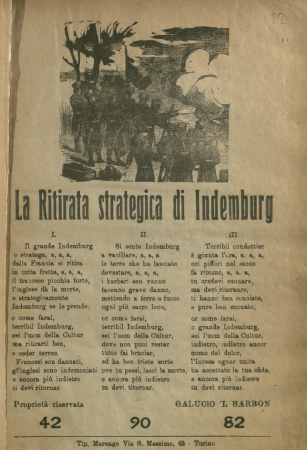 La ritirata strategica di Indemburg [!]