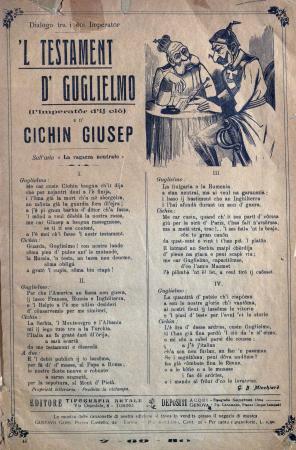 'L testament d' Guglielmo (l'imperatôr d' ij ciò) e d' Cichin Giusep