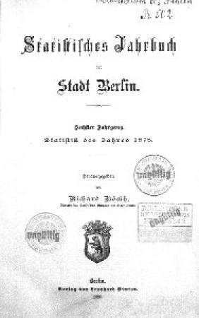 Statistisches Jahrbuch der Stadt Berlin